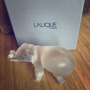 Lalique crystal elephant